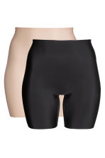 H&M+ 2-pack shaping shorts - Black/Chai - Ladies | H&M CN 5