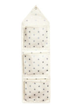 Canvas wall storage hanger - White/Stars - Home All | H&M CA 2