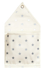 Canvas wall storage hanger - White/Stars - Home All | H&M CN 3