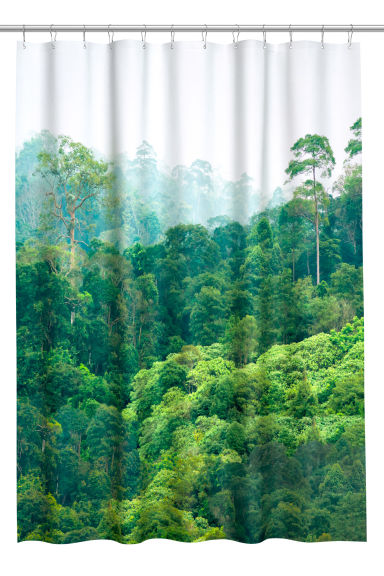 H&M Rain Forest Shower Curtain