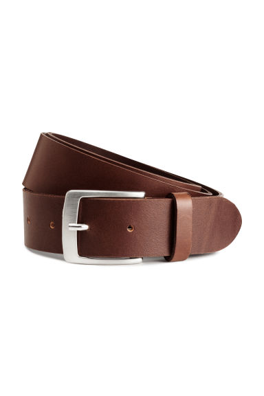 Leather belt - Dark cognac brown - Men | H&M CN