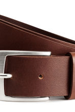 Leather belt - Dark cognac brown - Men | H&M 5