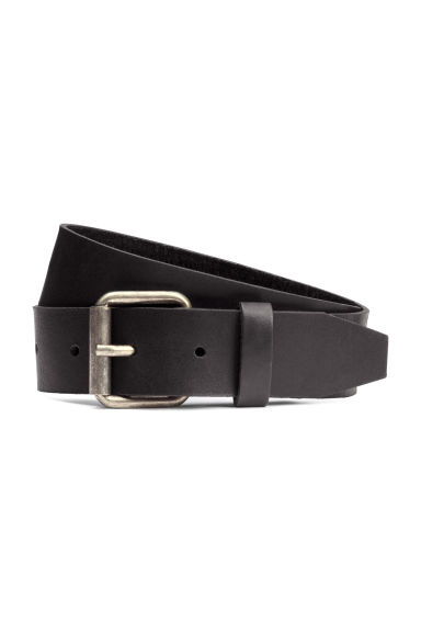 Leather belt - Black - Men | H&M 1
