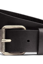 Leather belt - Black - Men | H&M 3