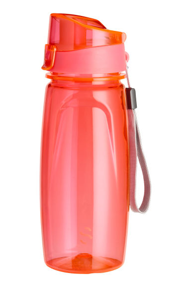 Water bottle with a lid - Coral - Ladies | H&M CN 1
