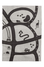 Patterned cotton rug - Light grey/Car track - Home All | H&M CN 2