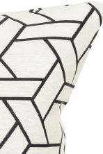 Jacquard-weave cushion cover - White - Home All | H&M GB 2