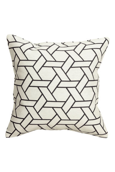 Jacquard-weave cushion cover - White - Home All | H&M GB 1