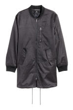 Long bomber jacket - Black - Men | H&M GB
