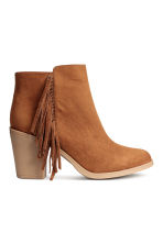 Ankle boots with fringes - Cognac brown - Ladies | H&M CN 2