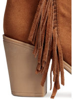 Ankle boots with fringes - Cognac brown - Ladies | H&M CN 5
