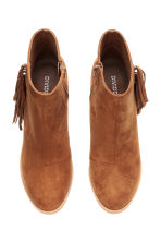 Ankle boots with fringes - Cognac brown - Ladies | H&M CN 3