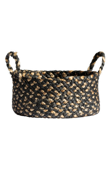Jute storage basket - Anthracite grey - Home All | H&M GB 1