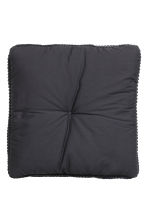 Moss-knit seat cushion - Anthracite grey - Home All | H&M CN 3