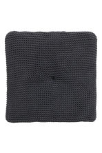 Moss-knit seat cushion - Anthracite grey - Home All | H&M CN 2
