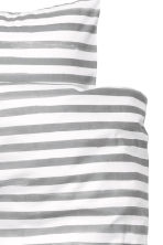 Striped duvet cover set - White/Grey - Home All | H&M CN 3
