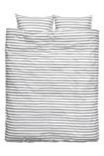 Striped duvet cover set - White/Grey - Home All | H&M CN 2
