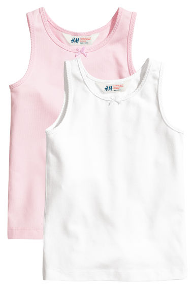2-pack vest tops - Light pink - Kids | H&M CN 1