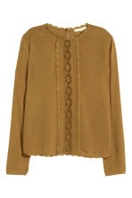 Crinkled blouse - Brown - Ladies | H&M CN 1