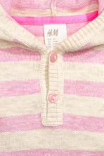 Fine-knit hooded jumper - Pink/Striped - Kids | H&M CN 2