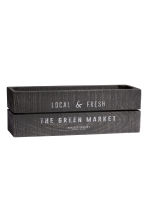 Small wooden box - Anthracite grey - Home All | H&M CN 1