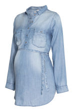 MAMA Lyocell blouse - Denim blue -  | H&M 3