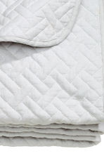Quilted bedspread double - Light grey - Home All | H&M CN 3