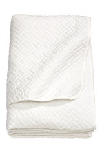 Quilted bedspread double - White - Home All | H&M 2