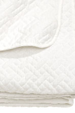 Quilted bedspread double - White - Home All | H&M 3