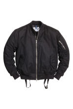Bomber jacket with braces - Black - Men | H&M GB 2