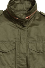 Cargo jacket - Khaki green - Ladies | H&M GB 2