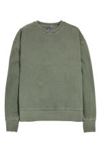 Sweatshirt - Khaki green - Men | H&M 2