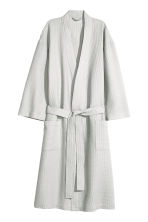 Waffled dressing gown - Light grey - Home All | H&M CN 2