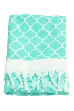 Jacquard-weave bath towel - Turquoise - Home All | H&M GB 2