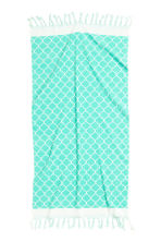 Jacquard-weave bath towel - Turquoise - Home All | H&M GB 3