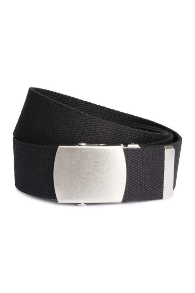 Webbing belt - Black/Silver - Men | H&M CA 1