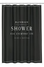 Text-print shower curtain - Black - Home All | H&M GB 2
