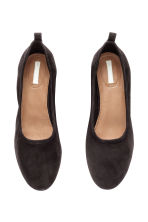 Suede court shoes - Black - Ladies | H&M 3