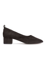 Suede court shoes - Black - Ladies | H&M 2