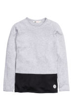 Block-coloured jumper - Light grey - Kids | H&M CN 2