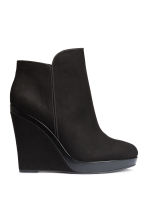 Wedge-heel boots - Black - Ladies | H&M CN 1