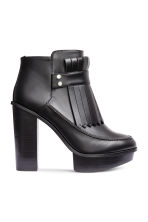 Platform boots with fringes - Black - Ladies | H&M CN 2