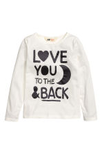 Jersey top with a print - White - Kids | H&M CN 2