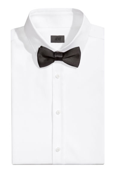 Satin bow tie - Black - Men | H&M