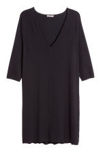 H&M+ Fine-knit dress - Black - Ladies | H&M CN 2