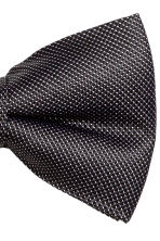 Textured silk bow tie - Black - Men | H&M CN 3