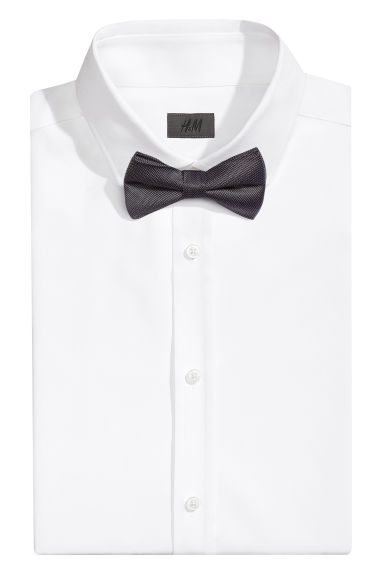 Textured silk bow tie - Black - Men | H&M CN 1