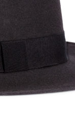 Wool fedora - Black - Men | H&M CN 2