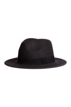 Wool fedora - Black - Men | H&M GB 1