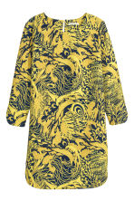 Long-sleeved dress - Yellow/Patterned - Ladies | H&M GB 2